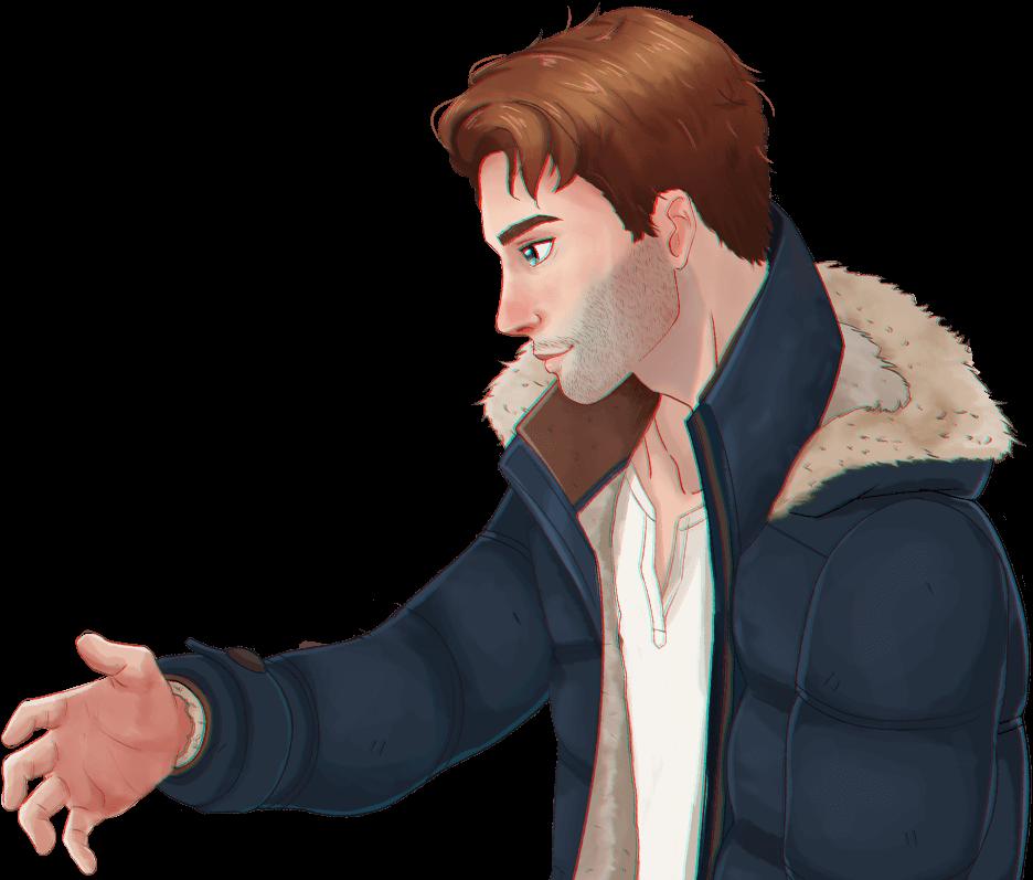 Ewan extends his hand