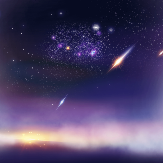 Shooting Stars in the Mid-Space