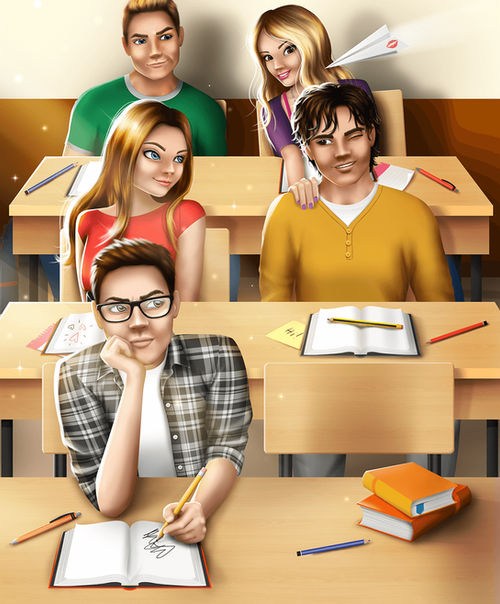 Teen Love Story Games - During Class