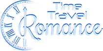 This PNG image is the logo of Time Travel Romance and depicts romantic and futuristic font of the game name and part of the clock.