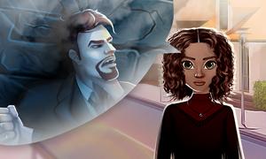 Inês pensando no seu passado e no Marcelo em Jogos de Amor com Vampiros