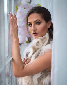 Curtain Fur Portrait