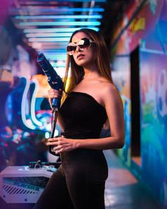 Arcade Gun Portrait