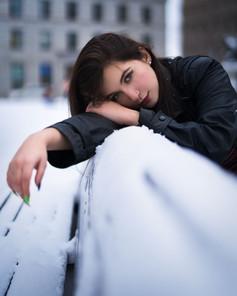 Snow Bench Portrait