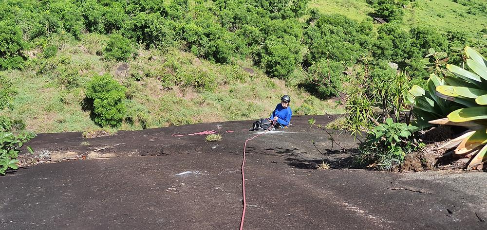 """Laura Petroni na P1 da """"Tenho Sede"""" (D1 3º IIIsup E2 - 90m) - Pedra do Moinho / Petrópolis"""