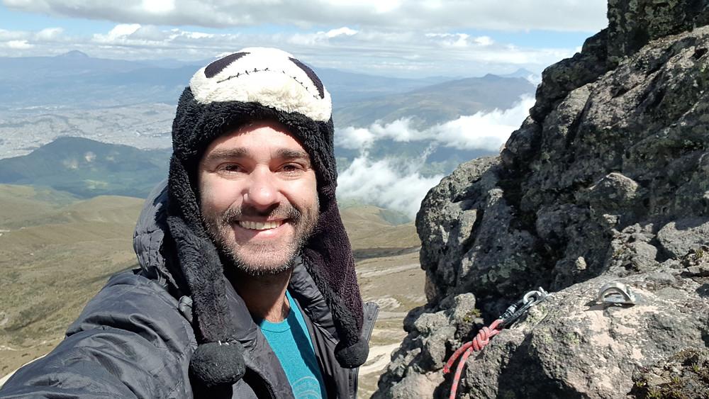 """Pedro Bugim na segunda e última parada da """"Ruta de Los Brasileños"""" (5° VIIb E2 D1 - 80m - Mista)"""