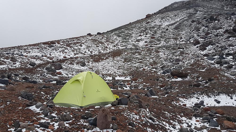 """Campo """"arista"""", a 5.300m - Chimborazo"""