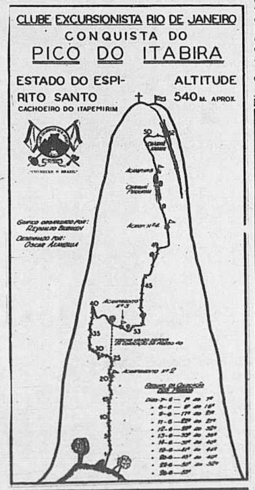 """Croqui original da via """"Silvio Mendes"""", de 1947"""