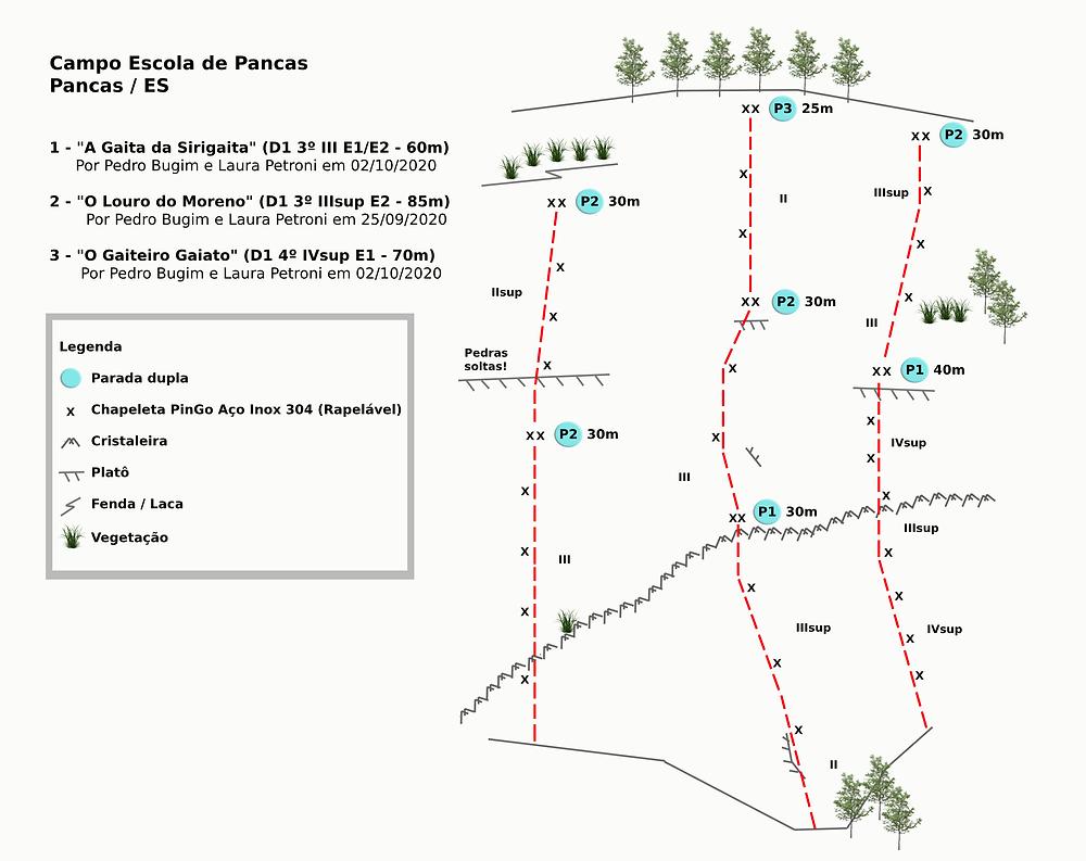 Croqui das vias do Campo Escola de Pancas - ES