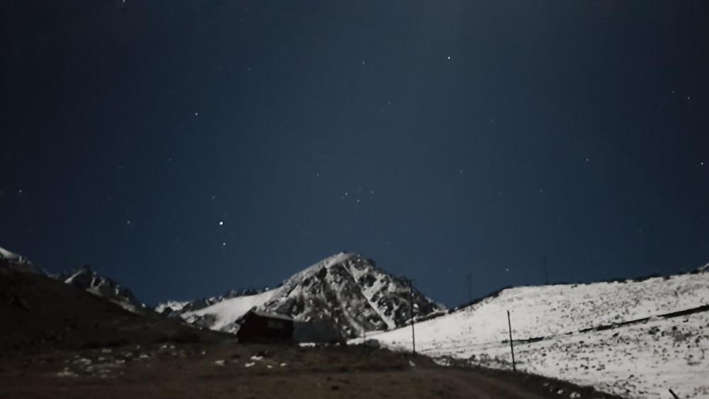 Anoitecer em Las Cuevas (3.600m)
