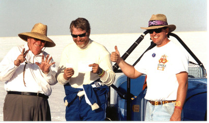 Jim Seely, Dave Seely, Ken Smith at Bonneville 2000
