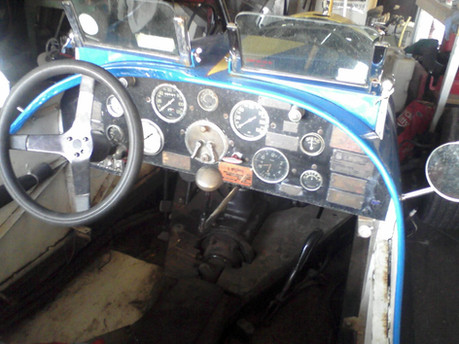 Dash board covered with timing tags