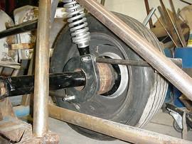 LEONARD rear suspension detail