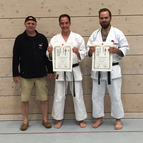 Zwei Neue Nidans (2. DAN) im Karate Dojo Groß-Umstadt