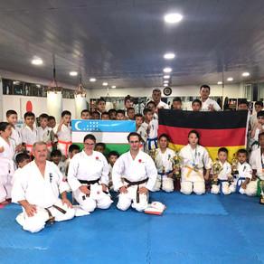 Umstädter Karatekas zum Training in Usbekistan
