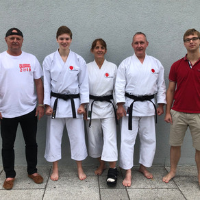 Drei Neue Schwarzgurte im Karate Dojo Groß-Umstadt