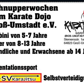 Schnupperwochen im Karate Dojo Groß-Umstadt e.V.