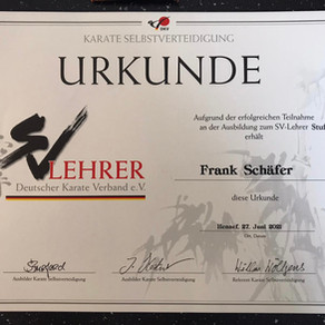 Trainer Frank Schäfer - Selbstverteidigung Lehrer Stufe 1 in Bronze