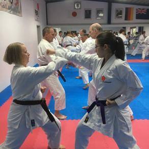 Sensei Ray Irving (7. DAN) aus Neuseeland leitet Gasttraining im Karate Dojo Groß-Umstadt