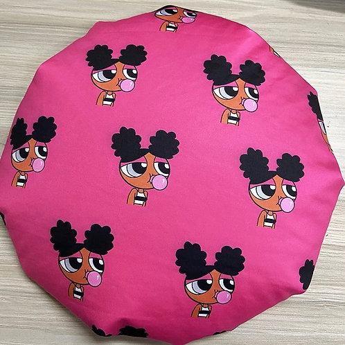 BLACK POWERPUFF GIRL Bonnet