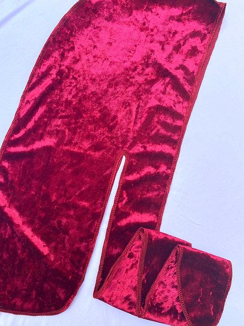 RED Crushed Velvet Durag