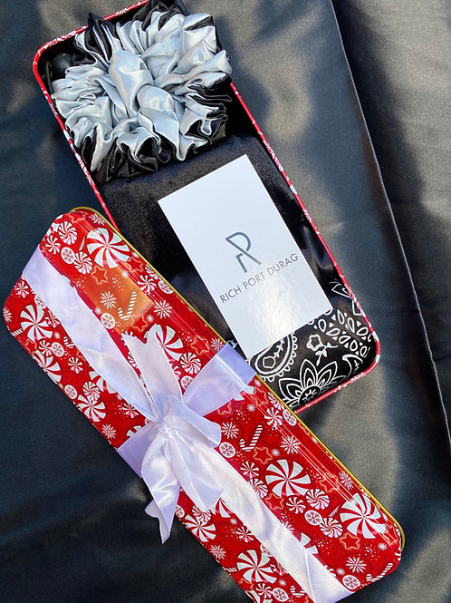 Holiday Black Durag & Bonnet Set