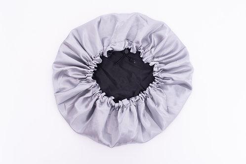Grey Silk Bonnet-Adjustable & Reversible