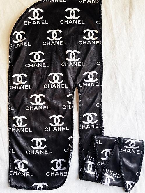 Black CHANEL Durag