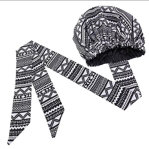 White & Black Abstract Wrap