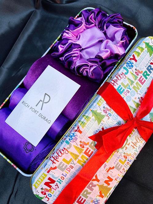 Holiday Purple Durag & Bonnet Set