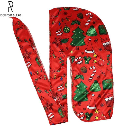Red Christmas Durag