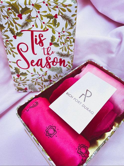 Holiday Pink Durag Set