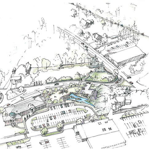 Public Library Proposal at Sketching Stage