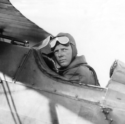Lindbergh in his plane, 1927 © Getty
