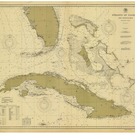 Map, Straits of Florida 1900