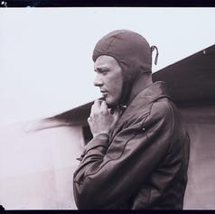 Charles Lindbergh w/helmet © HNE