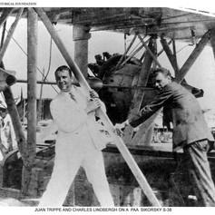 Juan Trippe, C. Lindbergh © PAHF