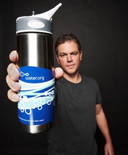 Matt Damon With Bottle