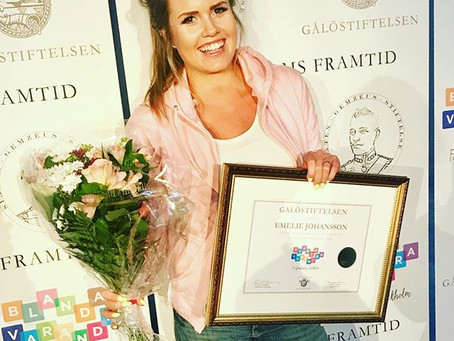 Emelie blev en av årets Blanda Varandra - stipendiater 2018.