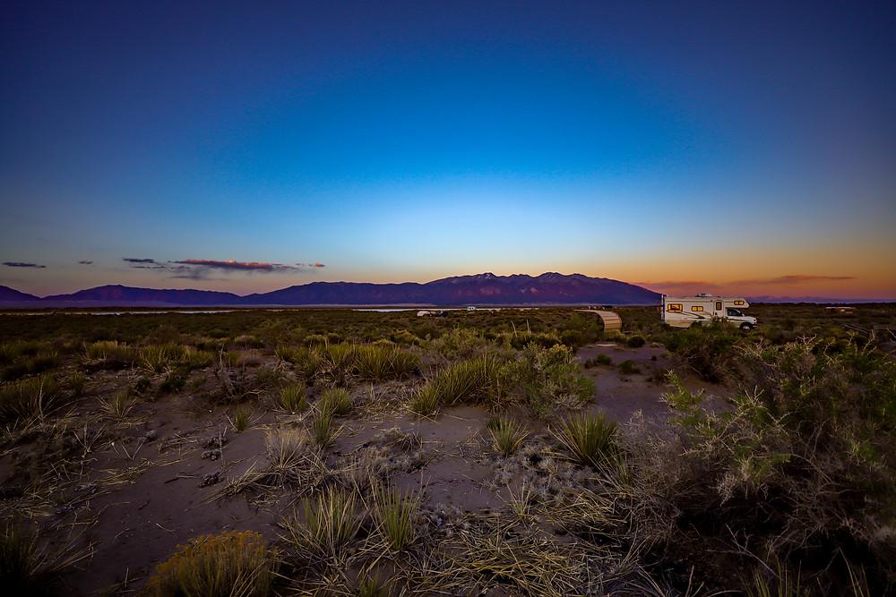 Camping at San Luis State Wildlife Area
