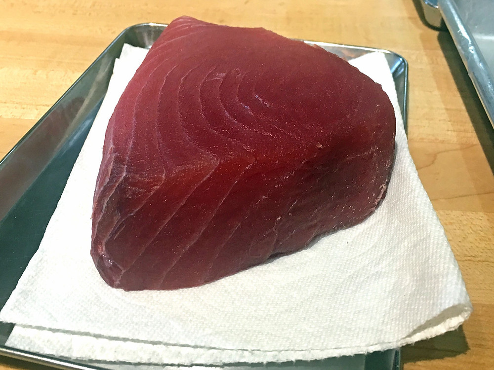 Sashimi grade ahi tuna