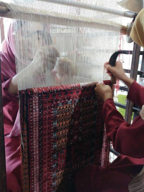 シルク両面織絨毯 ドゥイドフ