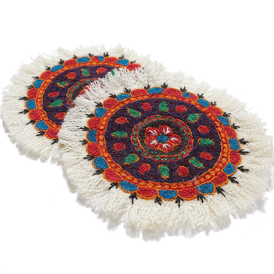 ケルマーン刺繍 パテ 2枚組 10×10cm