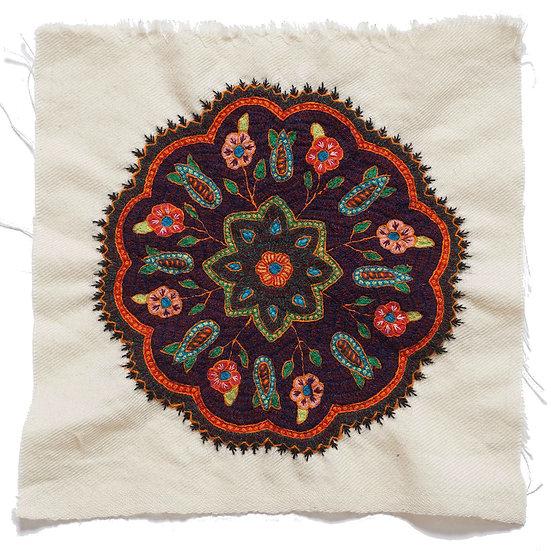 ケルマーン刺繍 パテ 25×25cm