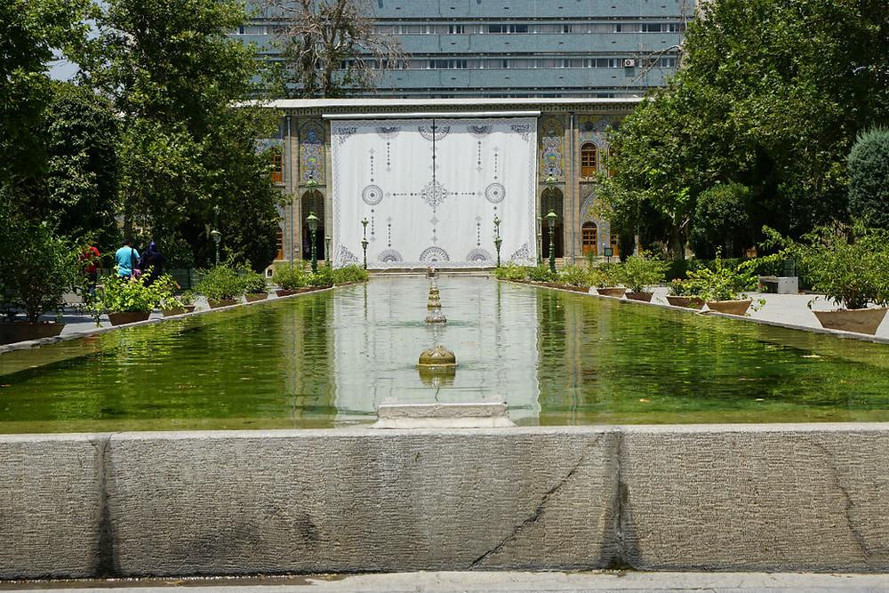 大理石の玉座 ゴレスターン宮殿