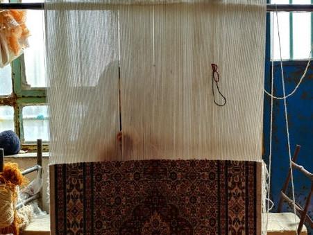 南ホラーサーン州南部ネフバンダーンの絨毯とテントづくり