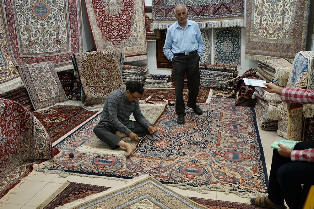 イスファハン絨毯屋