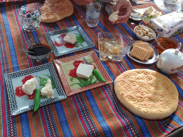 トルキャマンの村での朝食