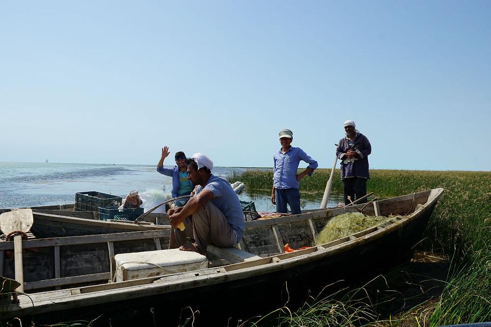 カスピ海の漁師たち
