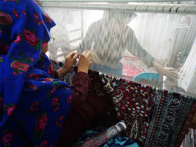 両面織 シルク絨毯 トルキャマン ペルシャ絨毯 ドゥイドフ村